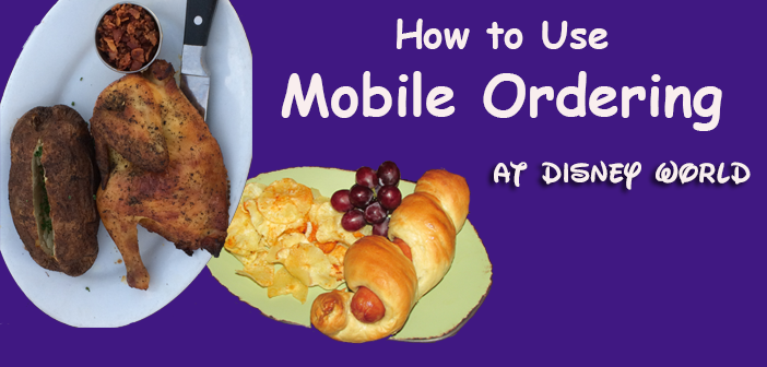 How to use mobile ordering at Disney World