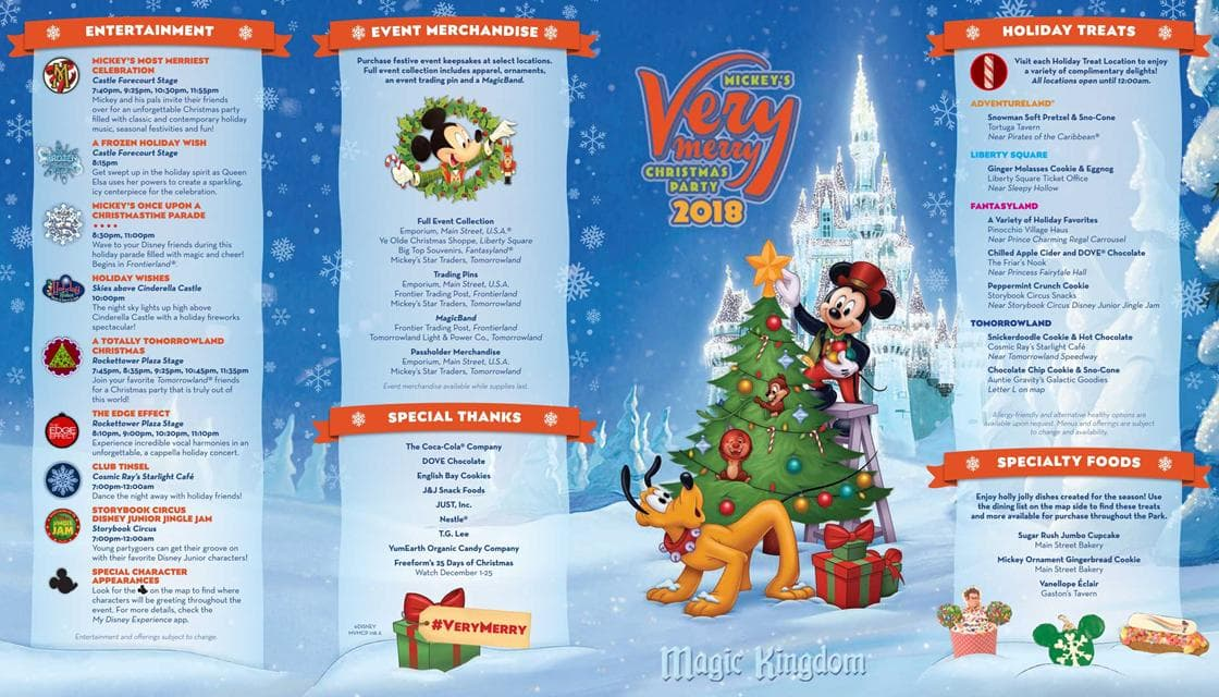 Mickey's Very Merry Christmas Party map and guide book sample