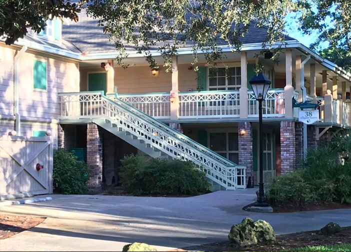 Disney's Port Orleans Riverside Resort Alligator Bayou Guest Building Staircase
