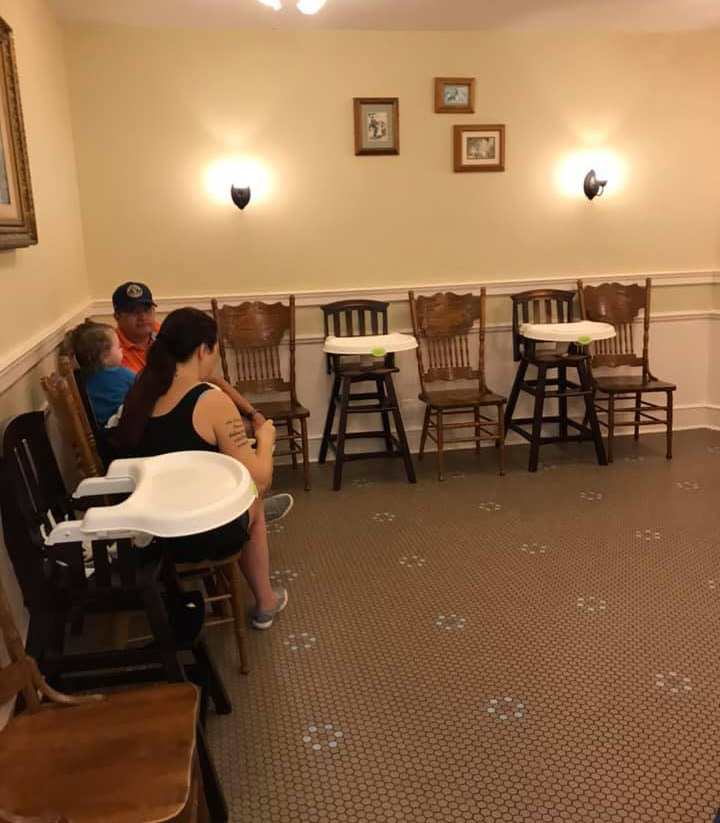 High chairs at the Disney World Baby Care Centers