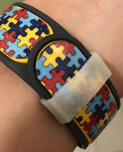 "Magic Band Decorated by Mandy Miller, also with a ""Keeper"" or Band Lock"