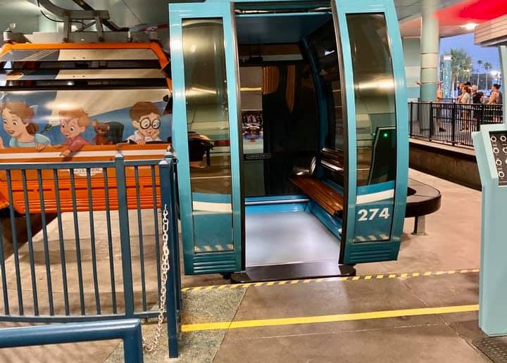 Skyliner with doors opened 2
