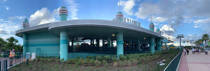 Skyliner station at Hollywood Studios Disney World