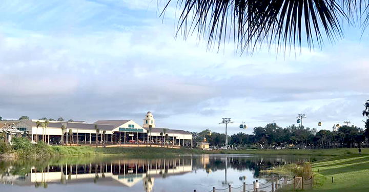 Skyliner building from Caribbean Beach Resort
