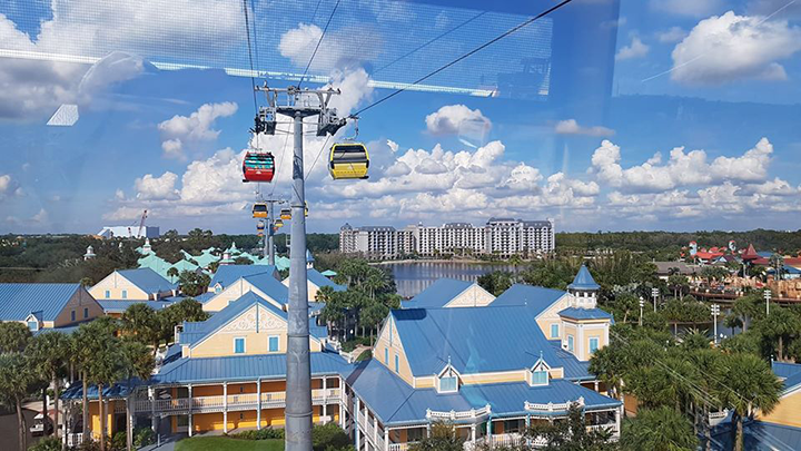 Gondola over the Caribbean Beach Resort
