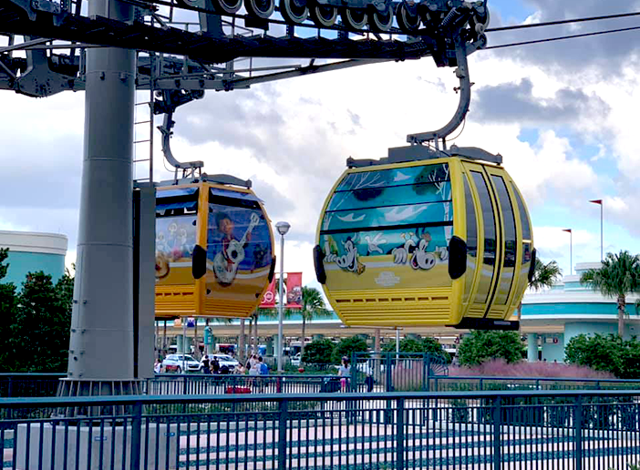 Two Skyliner Gondolas at Disney's Hollywood Studios