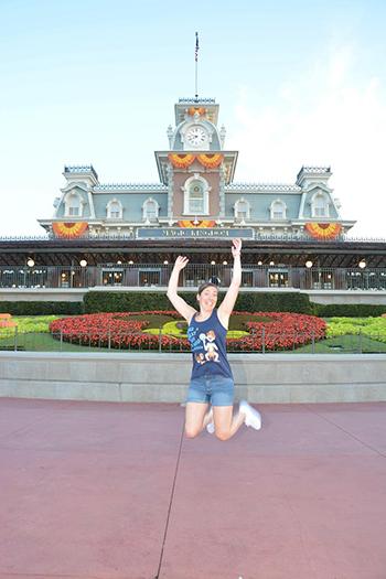 Katie Penn in Disney's Magic Kingdom on a Solo trip