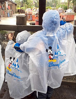 Disney World sells rain ponchos (Photo by Ashley Bridges Hogge)