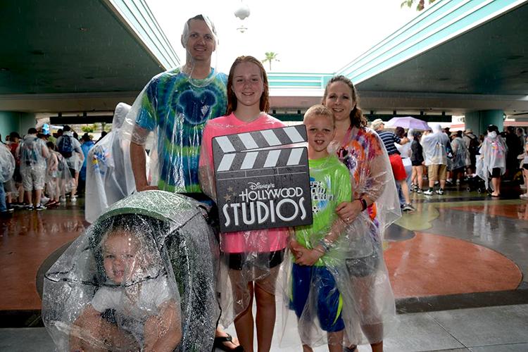 Rain gear and stroller cover in Disney World