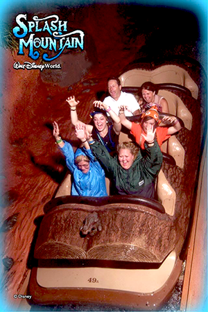 Splash Mountain in the rain (photo by Debbi Shingleton)