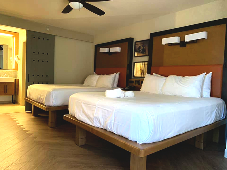 Beds in Non-Tower Resort Guest Areas