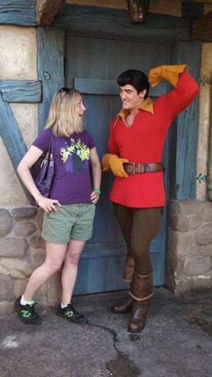 Gaston shows off at Disney World