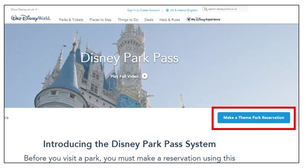 Disney park pass system 1