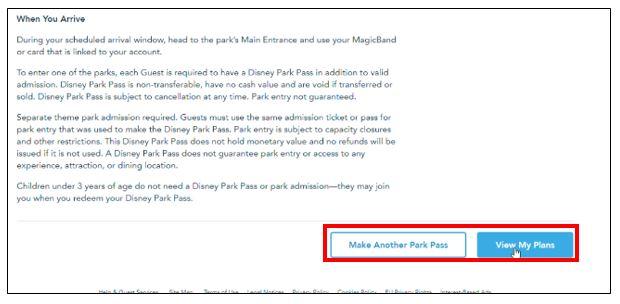 Disney park pass system 9