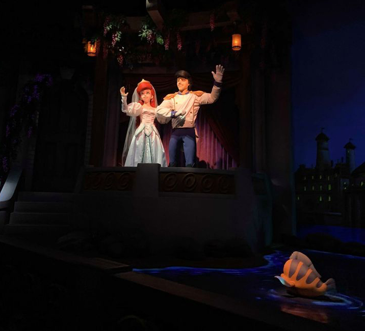 Wedding Scene in the Little Mermaid ride