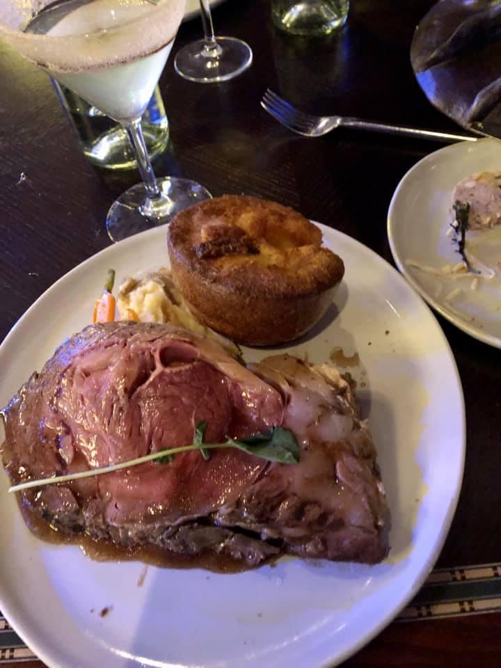 Prime rib served at Snow White's dinner