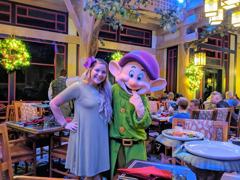 Dopey interacts with guests (photo by Crissi O'Kane)