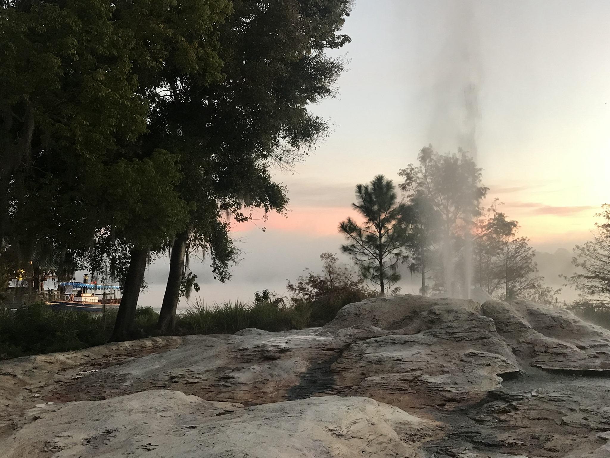 Wilderness Lodge man-made geyser