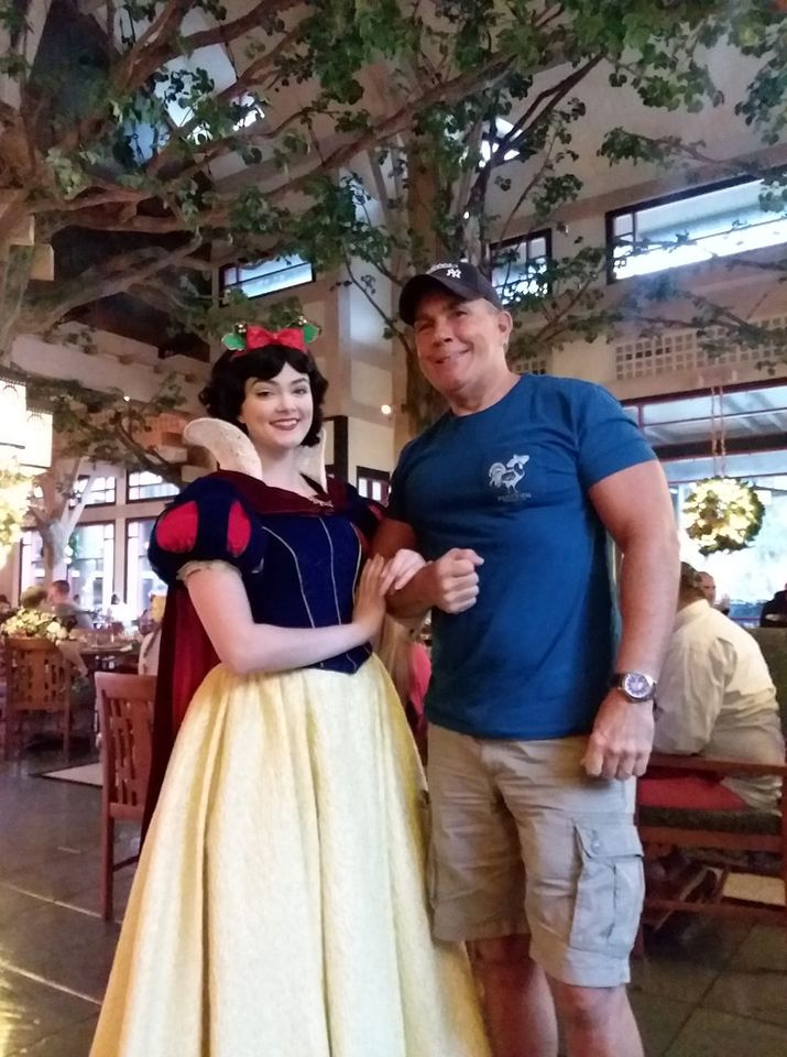 Snow White interacts with guests