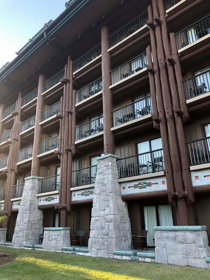 Balconies at Disney's Wilderness Lodge Resort (photo by Grace Flanary)