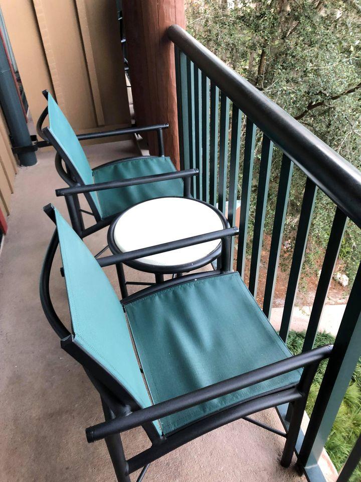 Standard balcony at Wilderness Lodge
