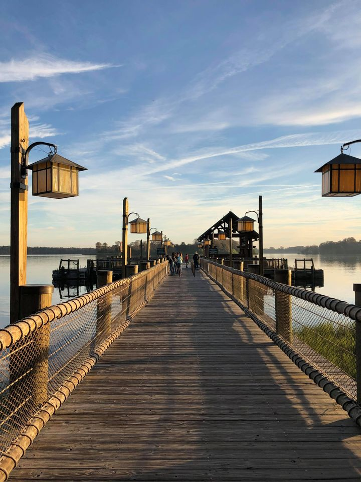 Walkway to boat dock at Wilderness Lodge