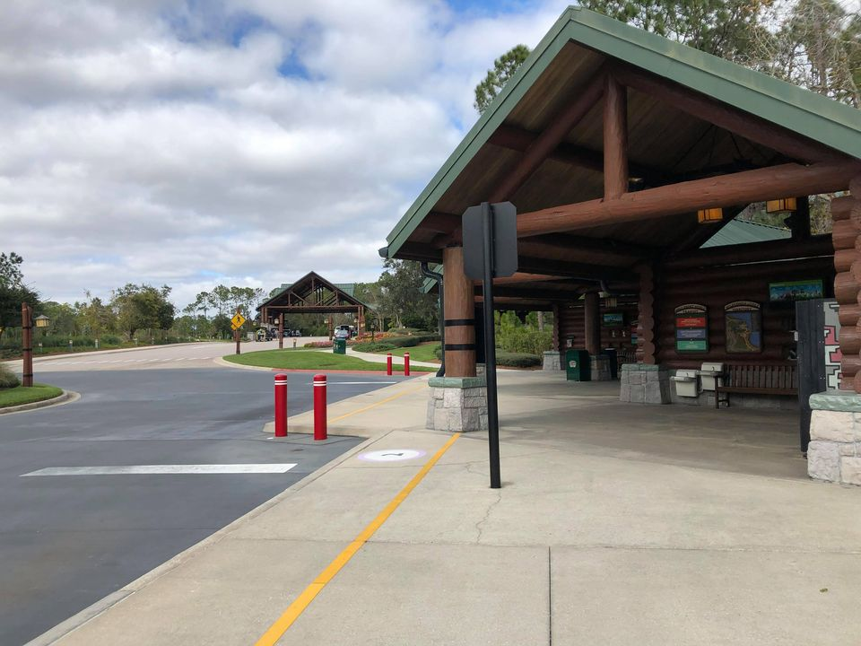 Bus stop at Wilderness Lodge