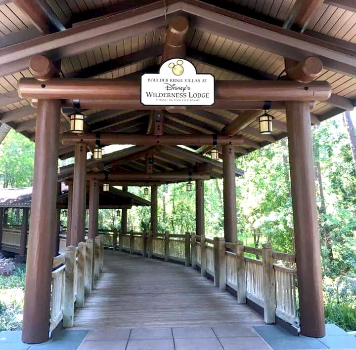 Walkway from Wilderness Lodge to the Boulder Ridge Villas