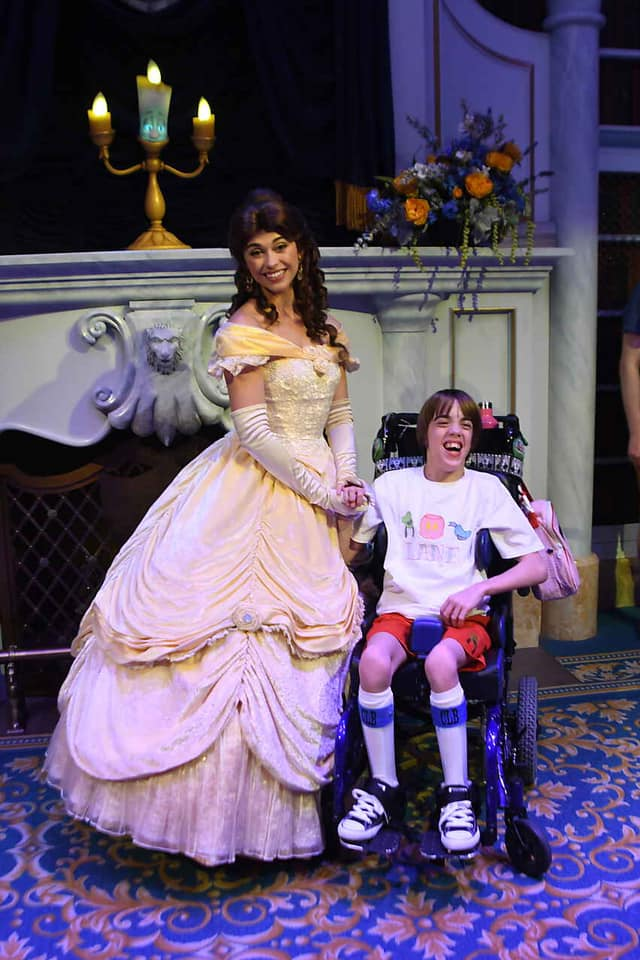 Tales with Belle handicapped child in the show