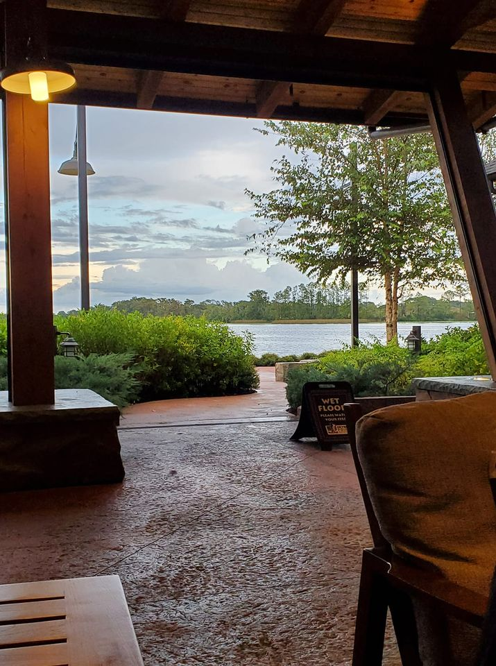 Lake view from inside the Gyser Point Restaurant