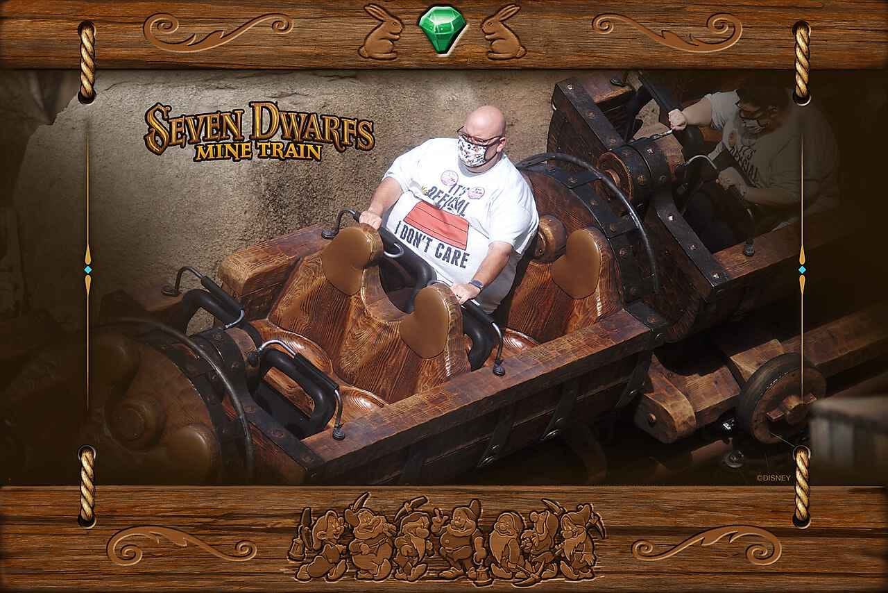 Seven Dwarfs Mine Train seats