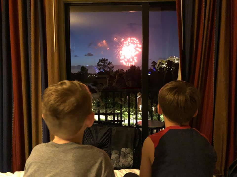 Fireworks View at Wilderness Lodge