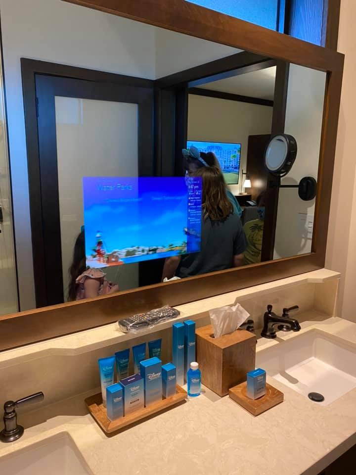 TV in mirror