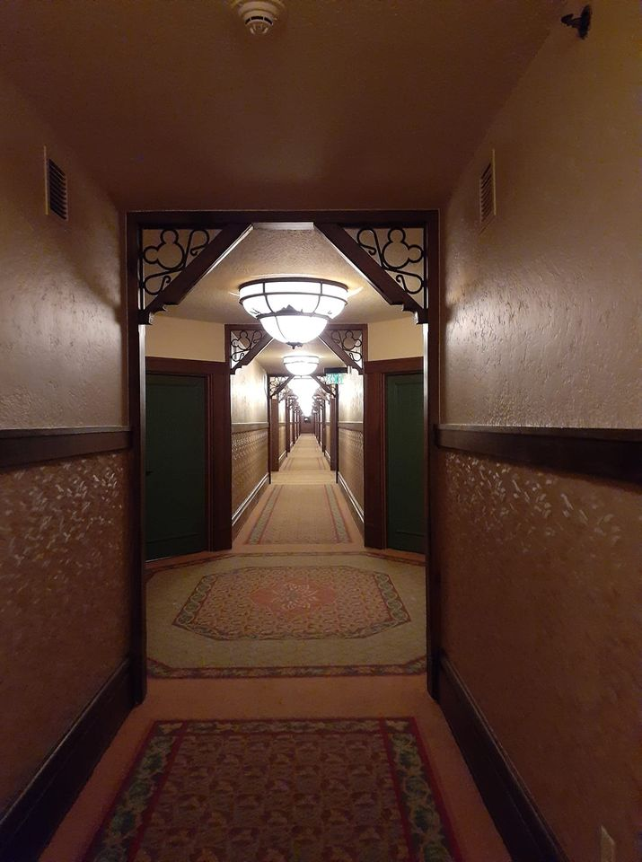 Inner hallway in Wilderness Lodge Resort