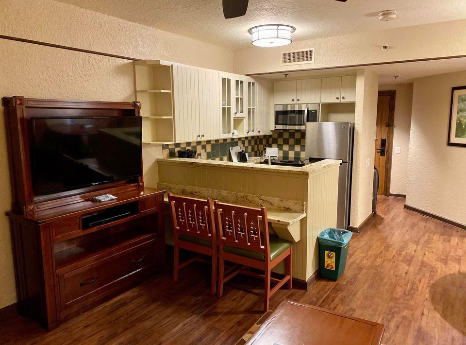 Living area in the Boulder Ridge 1 bedroom villa (photo by Sharon Voldish Bean)