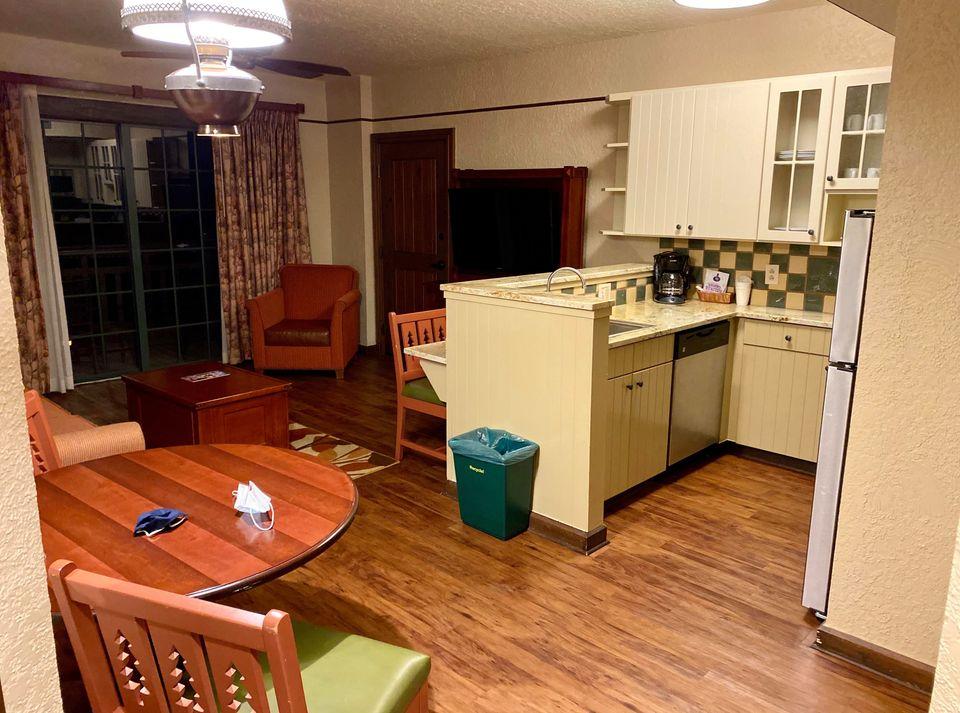Living area in Boulder Ridge 1 bedroom villa