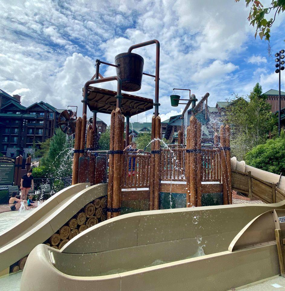 Water park in Disney's Wilderness Lodge Resort