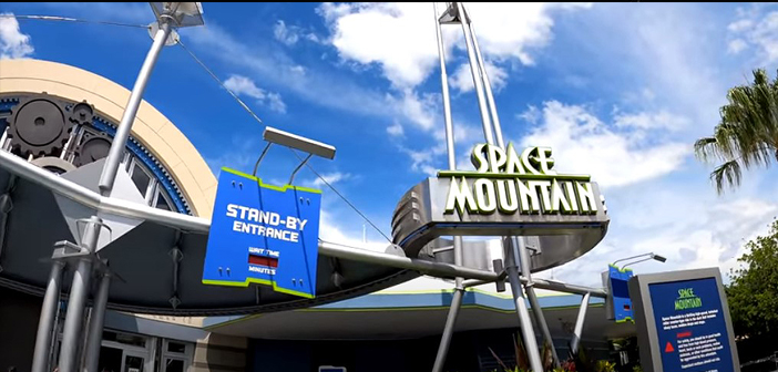Space Mountain in Magic Kingdom at disney world