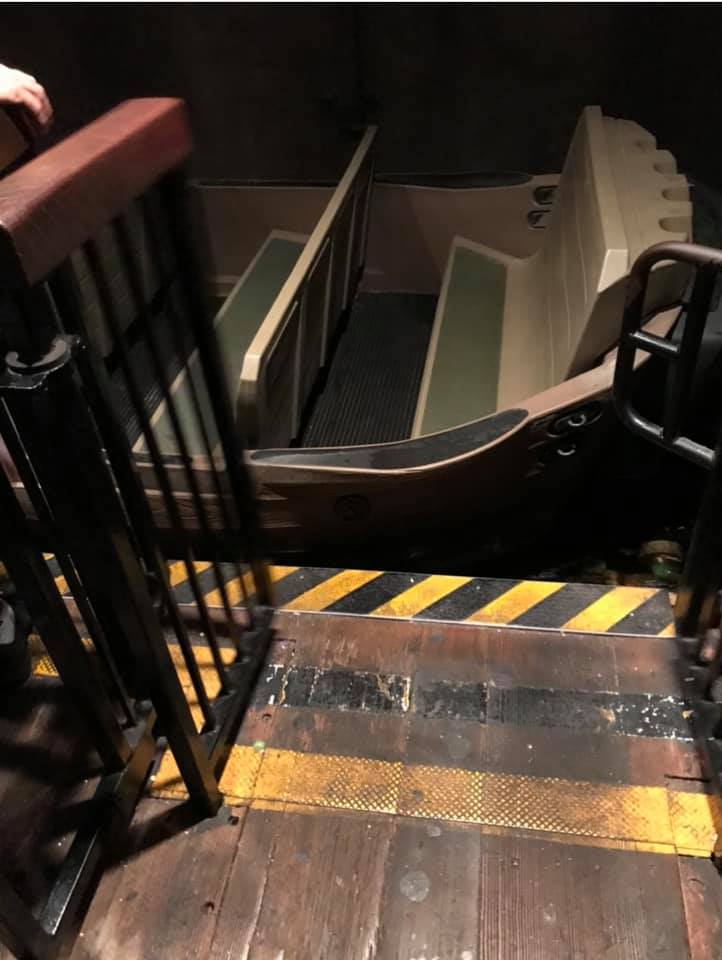 Accessible loading boat for the Pirates of the Caribbean at Magic Kingdom