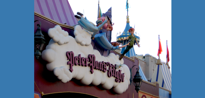 Peter Pan's Flight ride in Magic Kingdom at Disney World