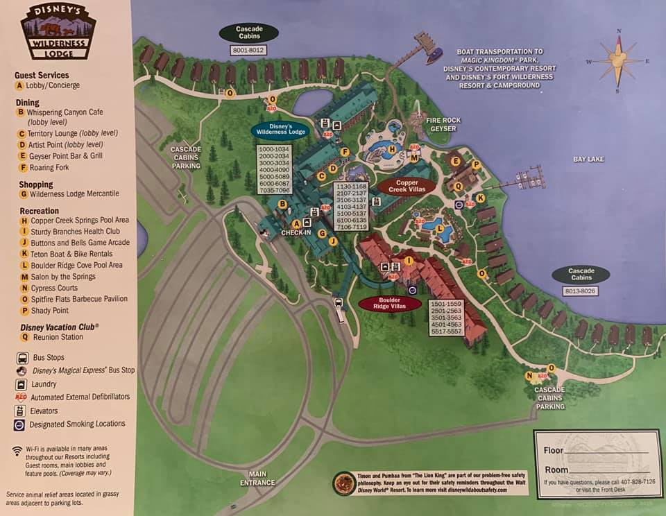 Map of Wilderness Lodge