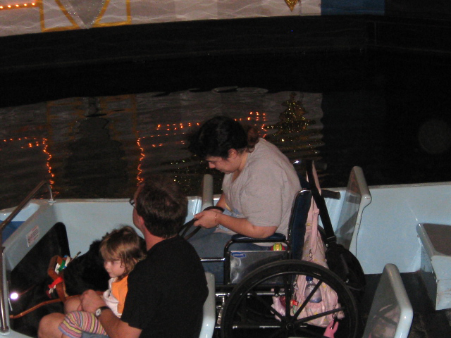 small world with wheelchair on boat