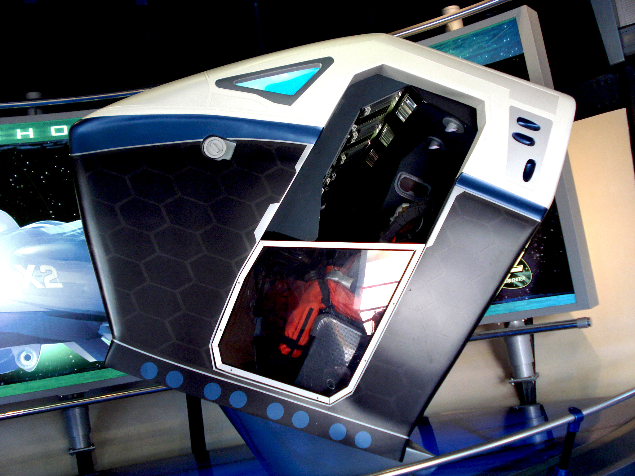 Test car at Mission Space in Epcot