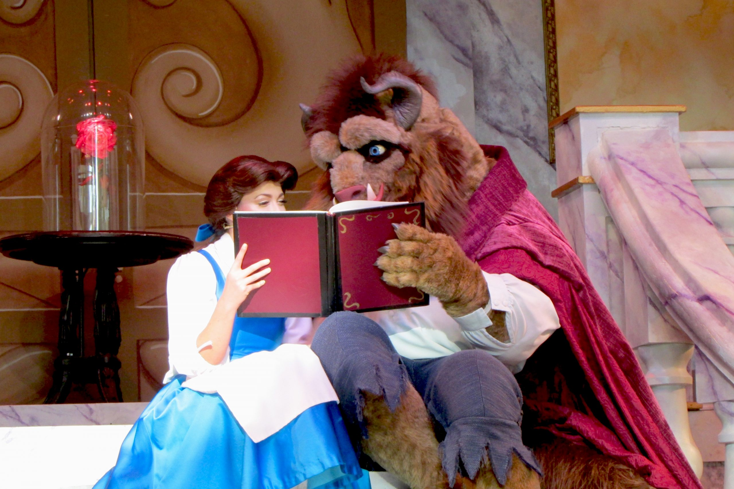 Beauty and the Beast beast and belle in Hollywood Studios at Disney World
