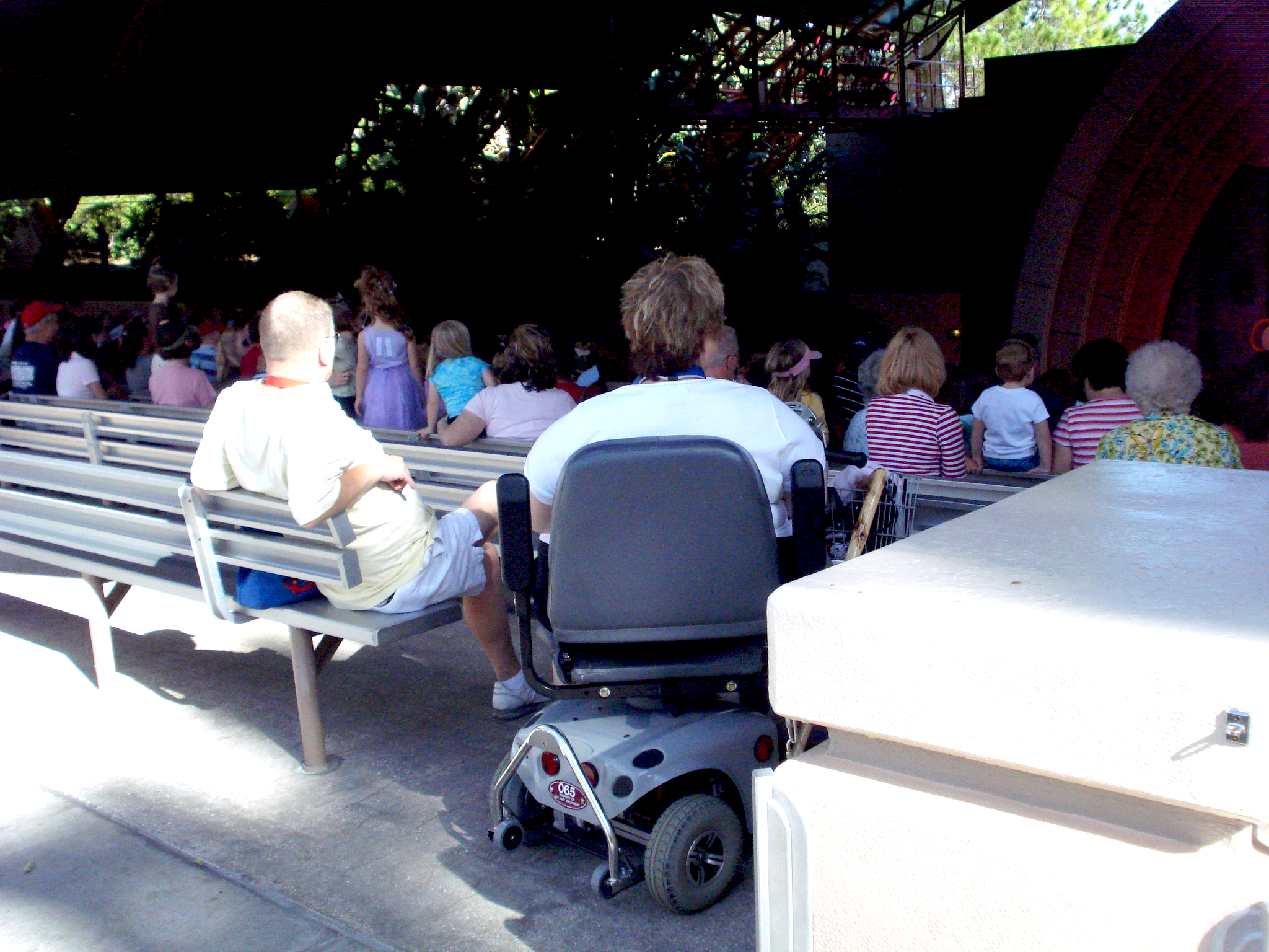 Beauty and the Beast wheelchair ecv seating in Hollywood Studios at Disney World