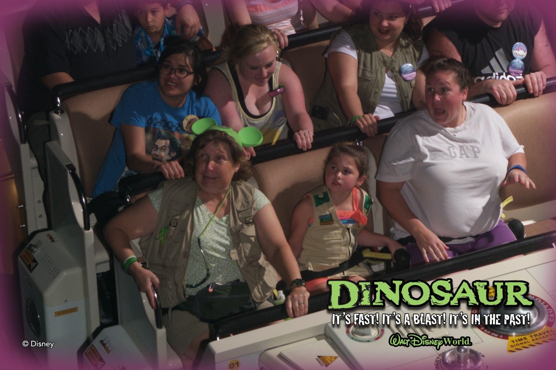 Dinosaur ride car at Animal Kingdom in Disney World