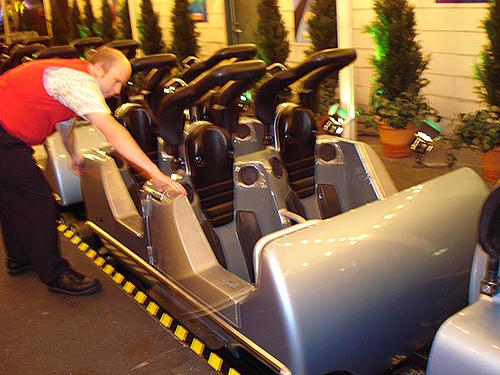 Rock n Roller Coaster ride car at Hollywood Studios Disney World
