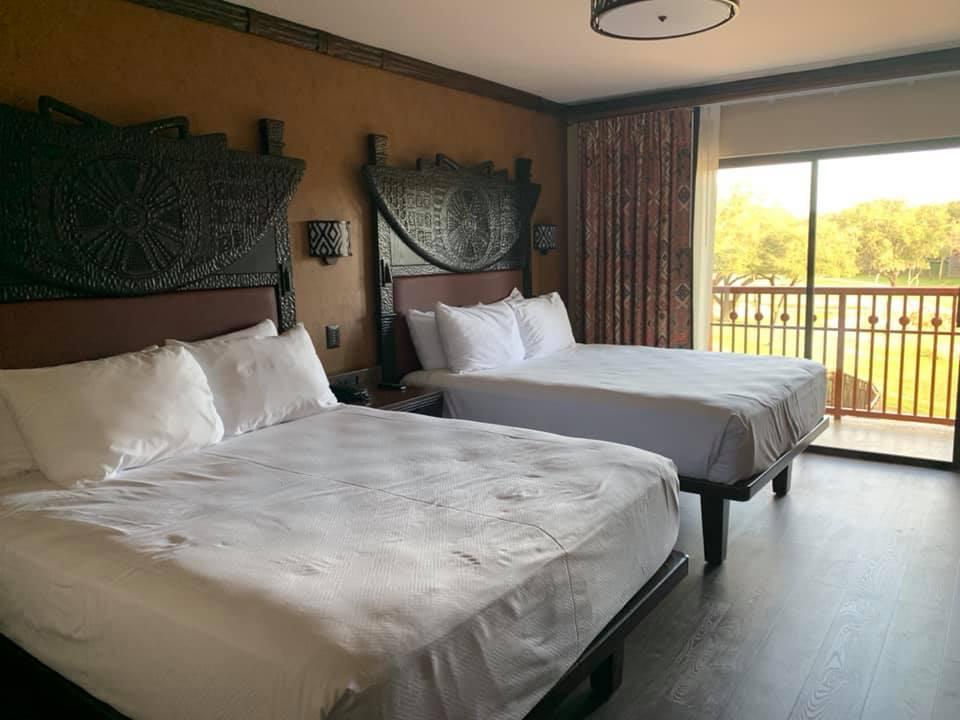 Standard bedroom at Jambo House in Animal Kingdom Lodge