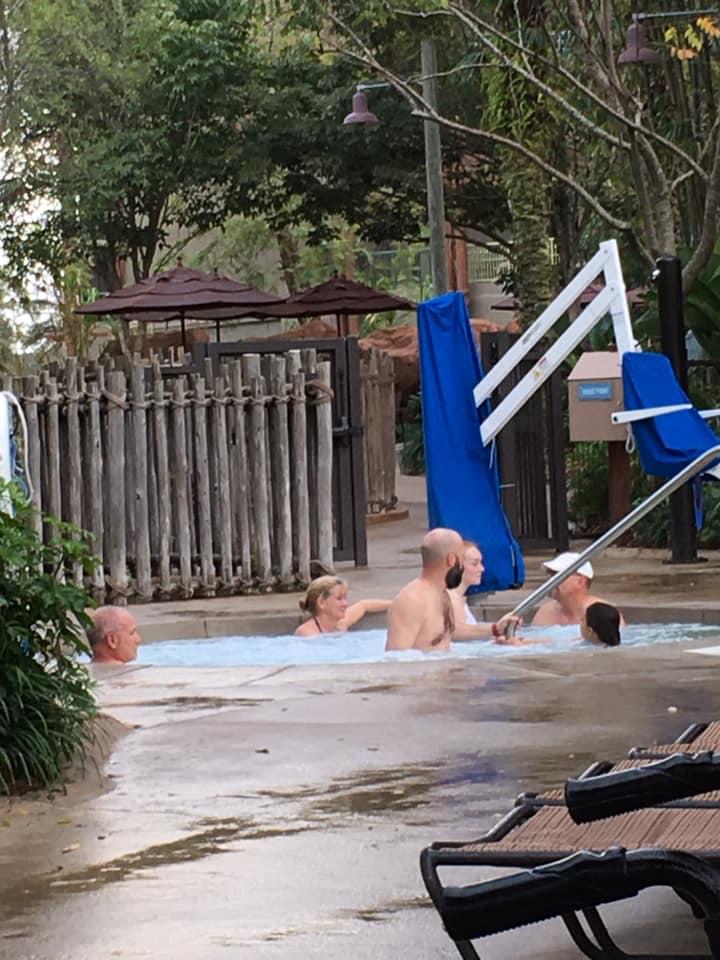 Hot tub spa in Kidani Village in Animal Kingdom Lodge