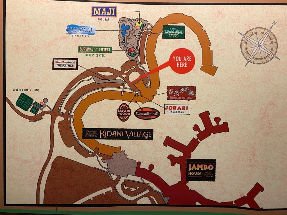 Map of Animal Kingdom Lodge